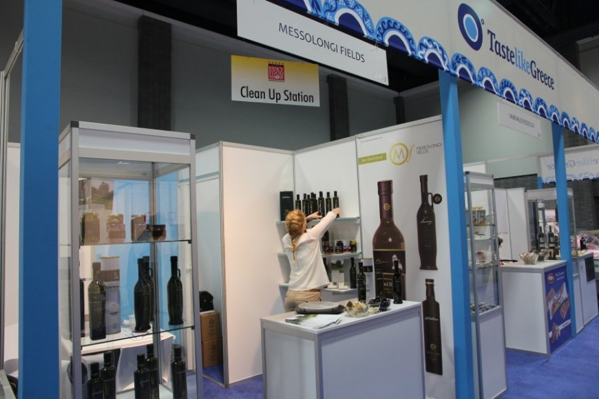 Messolongi Fields at Fancy Food Show 2012